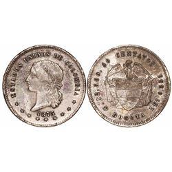 Bogota, Colombia, 50 centavos, 1873.