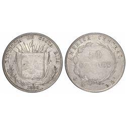 Costa Rica, 50 centavos, 1880GW.