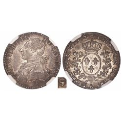 France (Paris mint), 12 sols, Louis XI, 1789/6-A, encapsulated NGC MS 62, tied for finest known in N