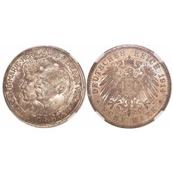 Anhalt-Dessau, German States, 5 mark, Friedrich II, 1914A, encapsulated NGC MS 62.