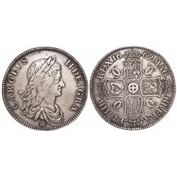 Great Britain, crown, Charles II, 1662.