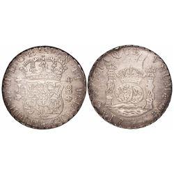 Guatemala, pillar 8 reales, Ferdinand VI, 1755J.
