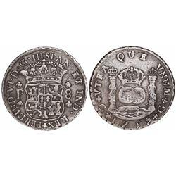Guatemala, pillar 8 reales, Ferdinand VI, 1759P.