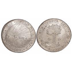 Guatemala (Central American Republic), 8 reales, 1836BA.