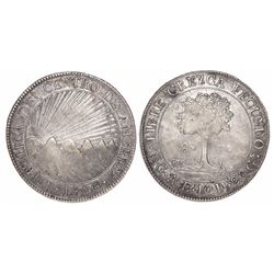 Guatemala (Central American Republic), 8 reales, 1846/2AE/MA, CREZCA/CRESCA.