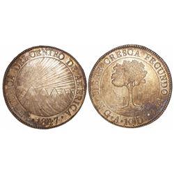 Guatemala (Central American Republic), 8 reales, 1847/6A.