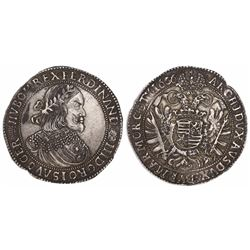 Hungary (Hapsburg), thaler, Ferdinand III, 1656-KB, Kremnitz mint.