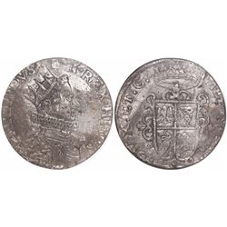 Milan, Italian States, ducatone, Philip IV, 1622, encapsulated NGC AU 50, finest known in NGC census