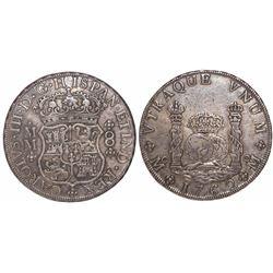 Mexico City, Mexico, pillar 8 reales, Charles III, 1762MM.