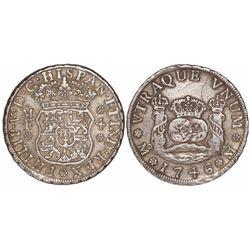 Mexico City, Mexico, pillar 4 reales, Philip V, 1746MF.