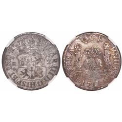 Mexico City, Mexico, pillar 2 reales, Charles III, 1768/7MF, encapsulated NGC VF details / surface h