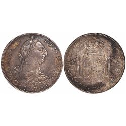 Mexico City, Mexico, bust 8 reales, Charles III, 1774FM.