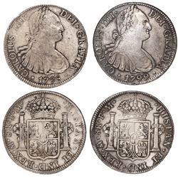Lot of 2 Mexico City, Mexico, bust 8 reales, Charles IV, 1798FM and 1799FM.