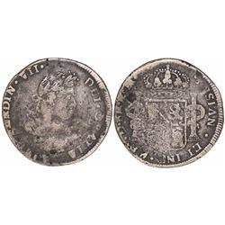 Durango, Mexico, bust 8 reales, Ferdinand VII, 1813RM.