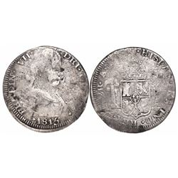 Zacatecas, Mexico, bust 2 reales, Ferdinand VII, 1815AG.