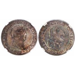Mexico City, Mexico, 2 reales, 1823JM, Iturbide, encapsulated NGC MS 62.