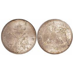 Zacatecas, Mexico, 50 centavos, 1877S.