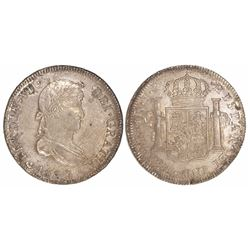 Lima, Peru, bust 4 reales Ferdinand VII, 1820JP.