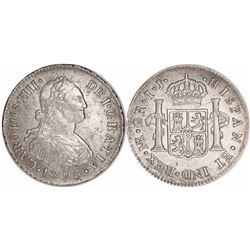 Lima, Peru, bust 2 reales, Charles IV, 1795IJ.