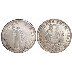 Lima, Peru, 8 reales, 1826JM.