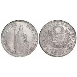 Lima, Peru, 8 reales, 1833MM.