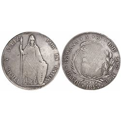 Lima, Peru, 8 reales, 1843MB.