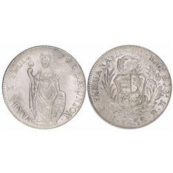 Lima, Peru, 4 reales, 1855MB.