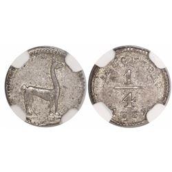 Arequipa, Peru, 1/4 real, 1839, encapsulated NGC MS 62, rare.