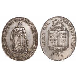 Potosi, Bolivia, oval silver medal, no date (ca. 1848-1855), Constitution.