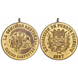 Cuba, gilt brass medal, 1887, Puerto Principe Exposition, ex-Roehrs.