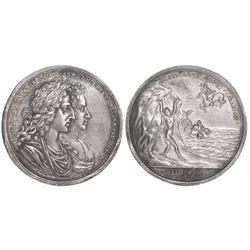 Great Britain, silver medal, William and Mary, 1689, coronation.