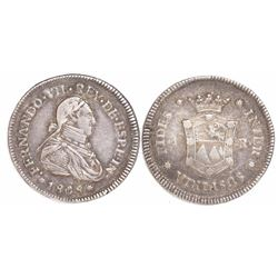 Guatemala (under Mexico), 1R-sized silver proclamation medal, Ferdinand VII, 1808, rare variety with