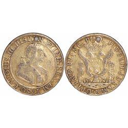 Lima, Peru, silver proclamation medal, Charles III, 1760.