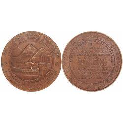 Peru, large bronze medal, 1870, Central Transandine Railroad (Callao to Oroya).