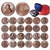 Image 1 : Set of 13 bronze medals for Pope Pius IX, dated 1847-1864, in original case.