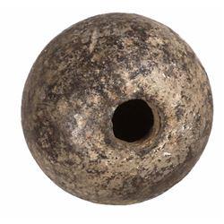 Colonial or Revolutionary War iron grenade, 1700s.
