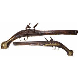 Eastern European flintlock trade pistol, 1700s-1800s.