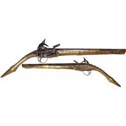 "Eastern European ""rat-tail"" miquelet pistol, early 1800s."