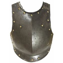 German cuirassiers iron breastplate, 1700s-1800s.