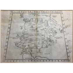 Italian map of Spain and Portugal, ca. 1550 (possibly by Giacomo Gastaldi, based on earlier map by S