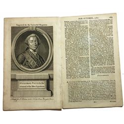 "British Universal Magazine article from the October 1762 issue entitled ""An Account of the Surrender"
