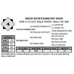 Lot 4 - RED STATEMENT 500