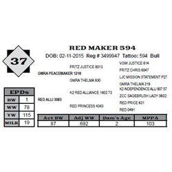 Lot 37 - RED MAKER 594