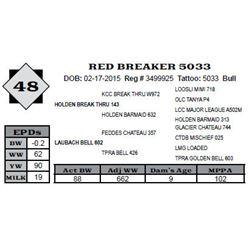 Lot 48 - RED BREAKER 5033