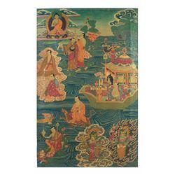 Painting on Paper - Buddhist Scene