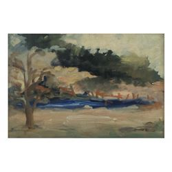 """Lazar, Oil on Canvas - """"By the Lake"""""""