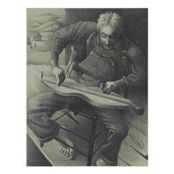 "B. Steffen, Print - ""Dulcimer..."""