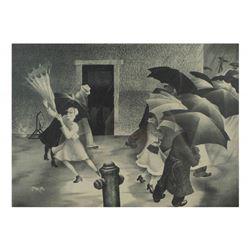 "B. Steffen, Print - ""Windy Day"""