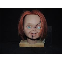 CURSE OF CHUCKY SCREEN USED & MATCHED GOOD GUY HEAD FROM THE ATTIC SCENE REVEALING THE SCARS
