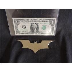 BATMAN THE DARK KNIGHT SCREEN USED HERO METAL BATARANG 1
